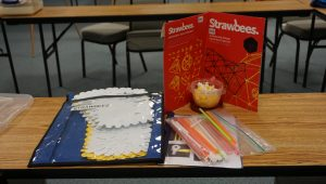 Strawbees Kit- a simple maker kit which allows you to connect straws to each other and build small to large mechanical objects.