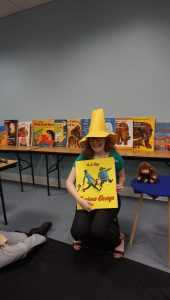 Be the Librarian in the Yellow Hat at your next Storytime!