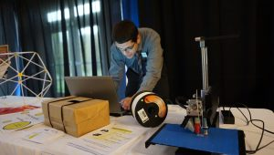 Al Oliveras demonstrates our 3D Printer at the Annual Meeting.