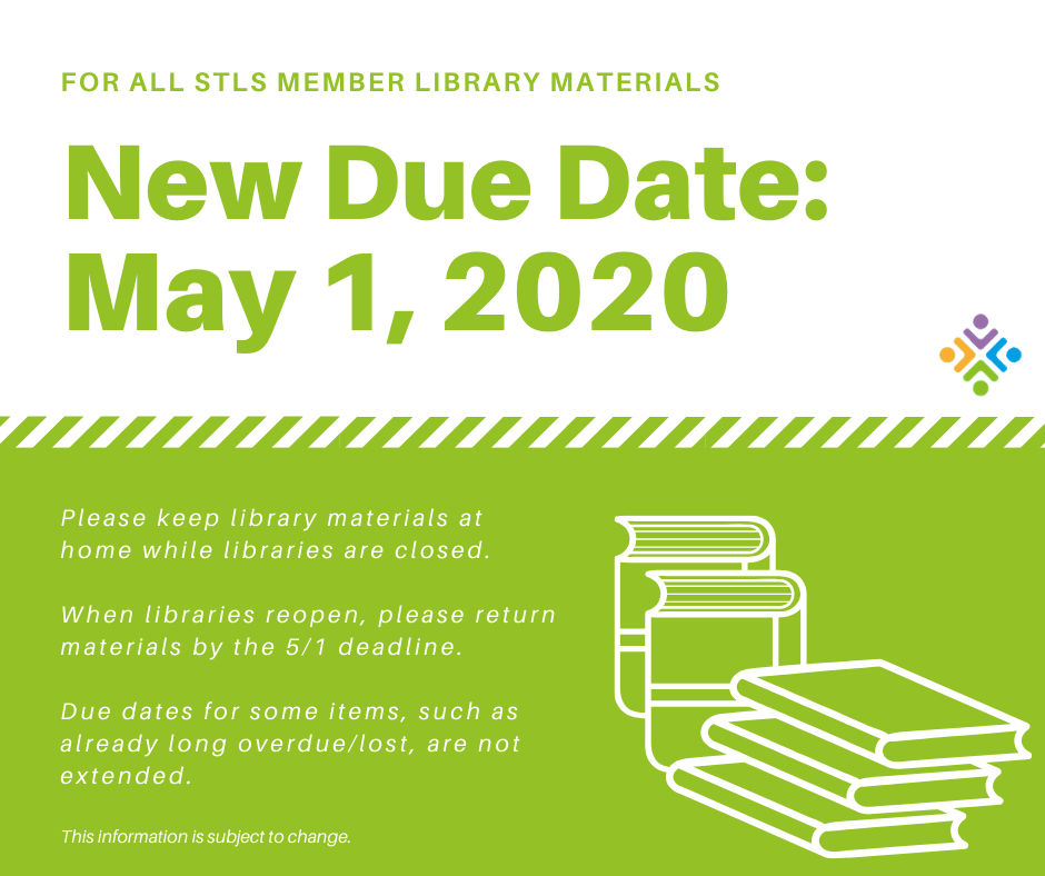 New library materials due date May 1, 2020
