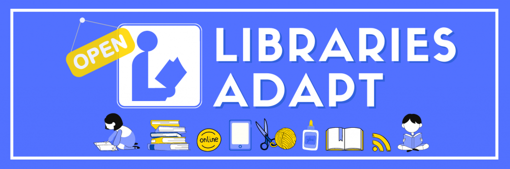 libraries adapt banner with text and graphics